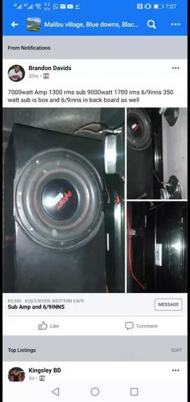 12 inch sub amplifier and 6/9INN
