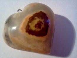 Сердце из оникса/подвеска и талисман/для подарка
