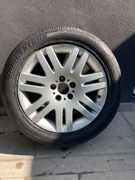 Bmw rims and tires set