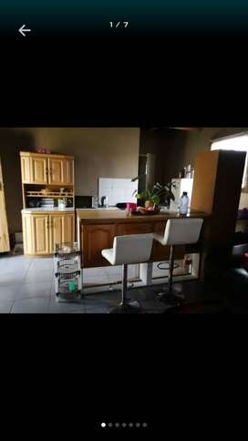 R2300/ month.  Bedroom/bath-toilet/kitchen/lounge/ INCLUDING WATER AND