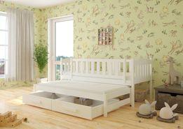 Łóżko podwójne wysuwane 2 os. dla dziecka w kolorze BIAŁYM 14dni!