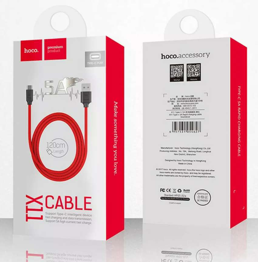 Hoco TYPE-C cable 5A Fast charging 0