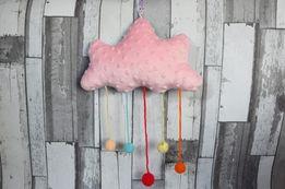 Maskotki zabawki i ozdoby -Chmurka z kropelkami deszczu.