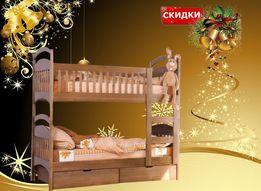 Двухъярусная кровать Карина зимняя распродажа от производителя