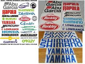 Boating & fishing logo decals / vinyl cut stickerskers
