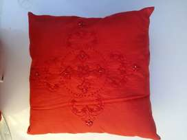 Embroidered square cushions