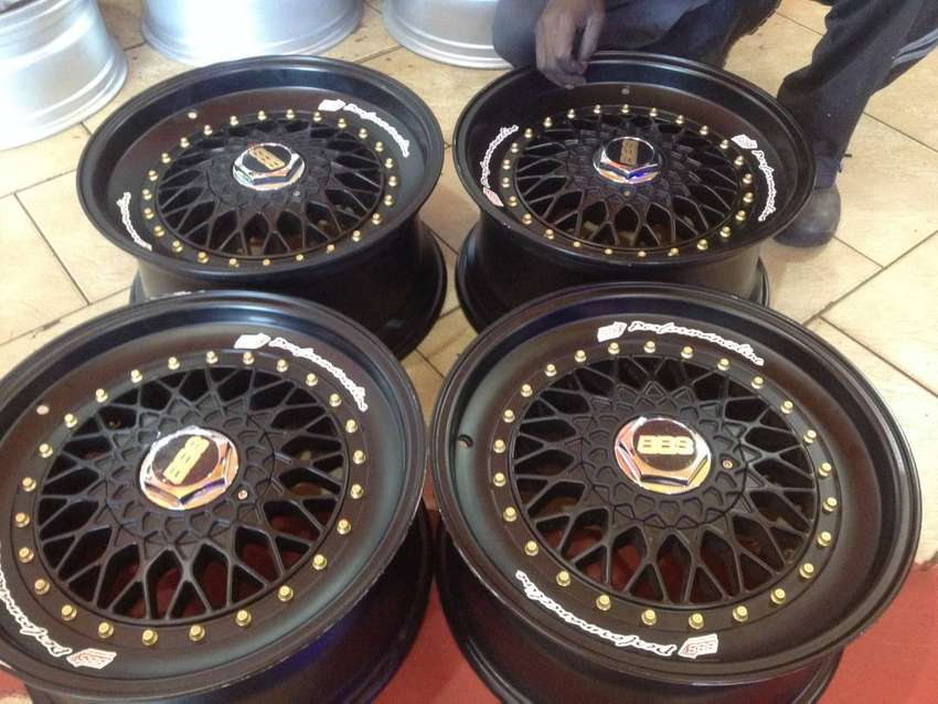 Narrow and wide excellent new black bbs rims with double pcd 17x8.5jj 0