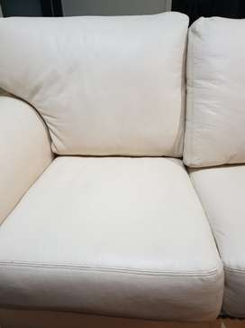Leather Sofa White Cow Hide