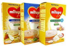 Детская молочная гречневая каша Milupa, Bebi, Hipp, Nestle, Nutrilon