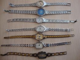 продам механические женские часы Чайка/ Луч в желтом и белом корпусе