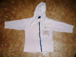 Белый свитер на замке на 2-3 года