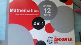 CAPS Grade 12 Matric Maths book for sale (The Answer Series)