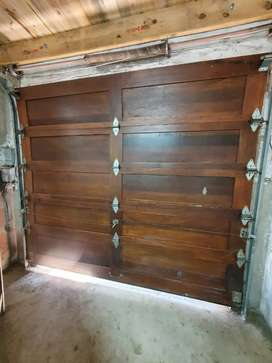 Wooden garage door,single