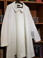 Nowy biały płaszcz rozmiar M(38)