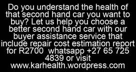 Second hand car buyer assistance