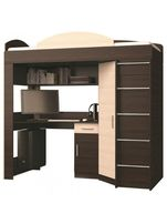 Кровать ЧЕРДАК + письменный стол + угловой шкаф + тумбочка. Доставка