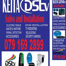 Dstv, electric Fence, Intercoms, cameras and gate motors