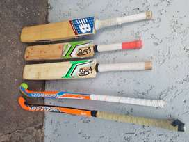 Cricket bats and hockey sticks for sale