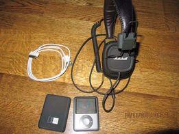 iPod nano 8gb + marshal major + силиконовый чехол + кабель