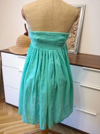 Mini sukienka miętowa Cubus Kraków - image 1
