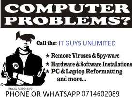 Desktop&Laptop Installations & Repairs