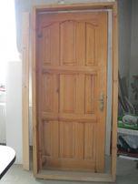 """НОВІ Двері дерев""""яні + рама + замок!"""