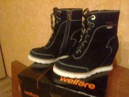 Продам модные замшевые ботинки/сникерсы