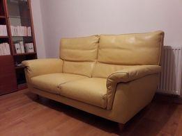 Sofa skorzana trzyosobowa