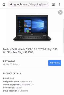 NEW DELL LATITUDE 5580 INTEL CORE I7 7TH GENERATION HIGH SPEC MACHINE