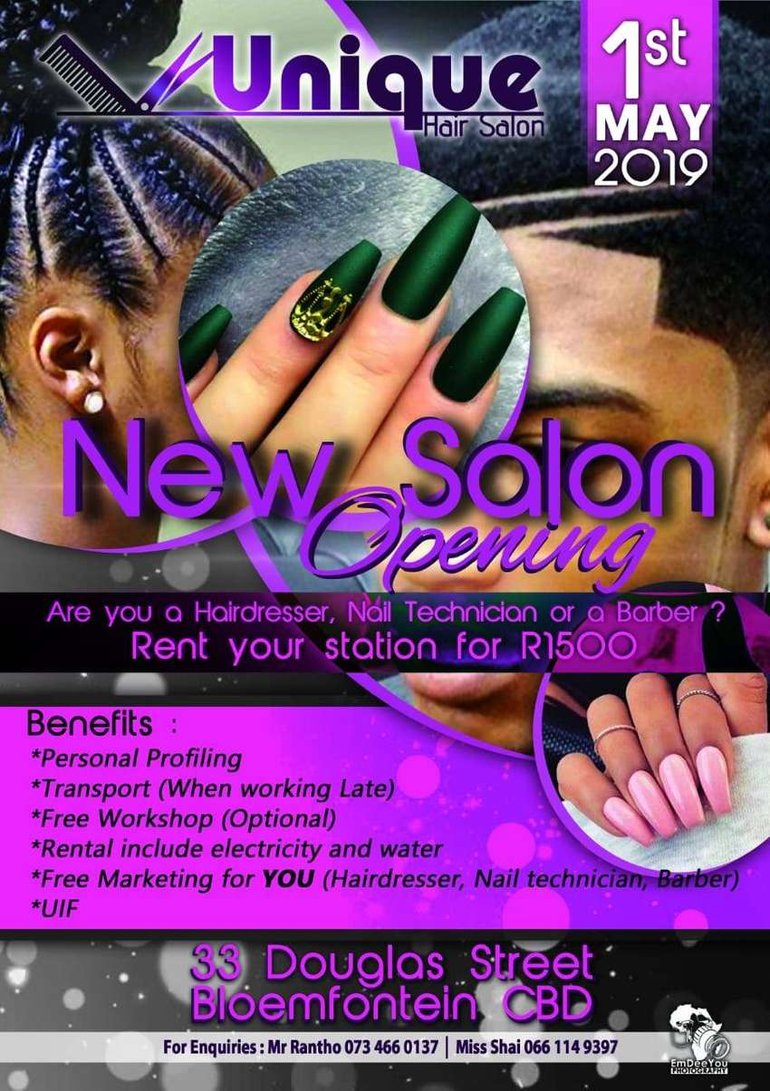 Nail Technician, Barber and Hair dressers 0