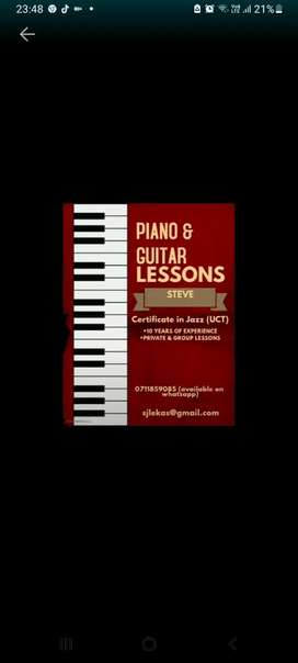 Piano & Guitar lessons for beginners