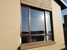 Second hand wooden window frame
