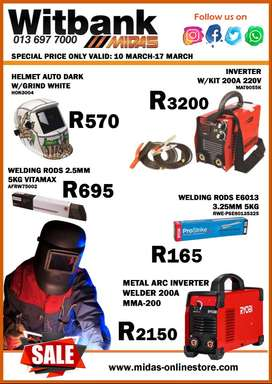 Welding Supplies Sale now on at Midas Witbank!