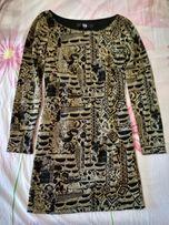 Шикарное нарядное золотое платье Bedo