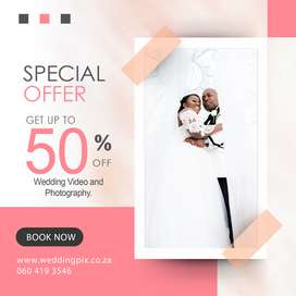 50% Off Wedding Video and Photography Offer