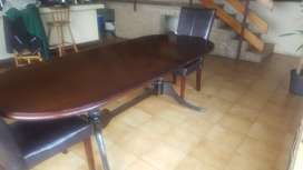 Vintage Dining table 2 to 8 seater extendable French Polish