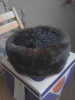 Шапка женская норковая с каракулем коричневая