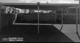 Steel double carport  with roof6 x 6