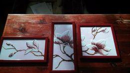 Obraz wyszywany koralikami (3 elementy) tryptyk