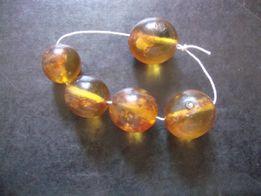 продам янтарные бусенки большого диаметра