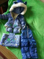 Комбез комбинезон зимний на овчине 80 размер