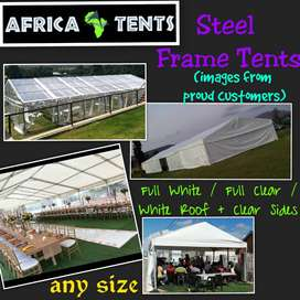 Heavy Duty Frame Tents on Sale!