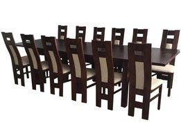 Piękny Duży Zestaw Do Salonu Stół z 12 Krzesłami HIT