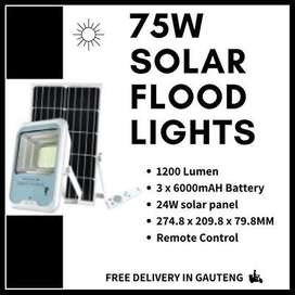 75W Solar Flood Light (Free Delivery)