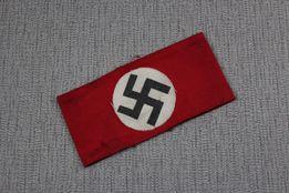 Niemiecka opaska naramienna SS z III Rzeszy II wś sygnowana