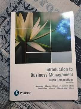 Introduction to Businesses Management 2nd edition