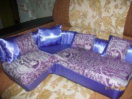 Угловой диван для больших кукол