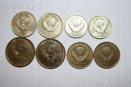 Монеты СССР:1коп,2,3,5,10,15,20