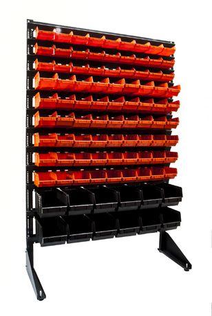 Стелаж для метизів стеллаж с ящиками лотками коробками для болтов гаек