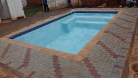 Thatch roofs & swimming pools